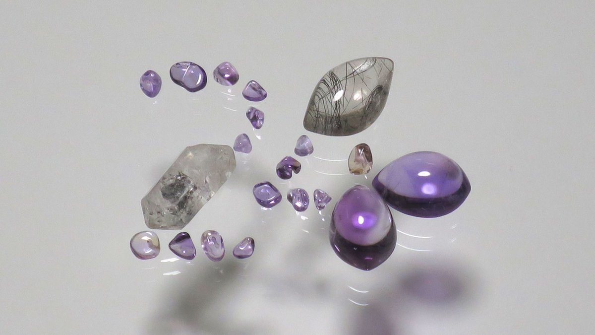 RT @Sand_Therapy: amethyst, rutilated quartz https://t.co/kI9UDZNaWY