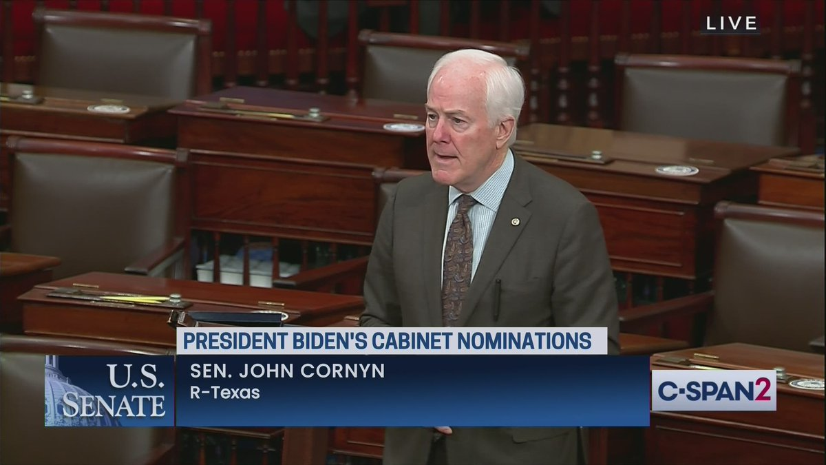 "Cornyn on OMB Dir nominee Tanden: ""My friendly advice to President Biden is to withdraw Neera Tanden's nomination & select someone,who at the very least,has not promoted wild conspiracy theories & openly bashed people on both sides of the aisle that she happens to disagree with."""