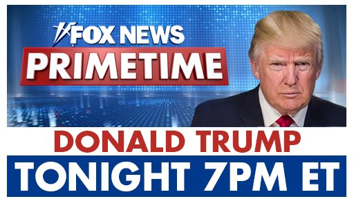 Former President Donald Trump will join @KatiePavlich TONIGHT at 7pm on FOX NEWS PRIMETIME to talk about his friend @TigerWoods