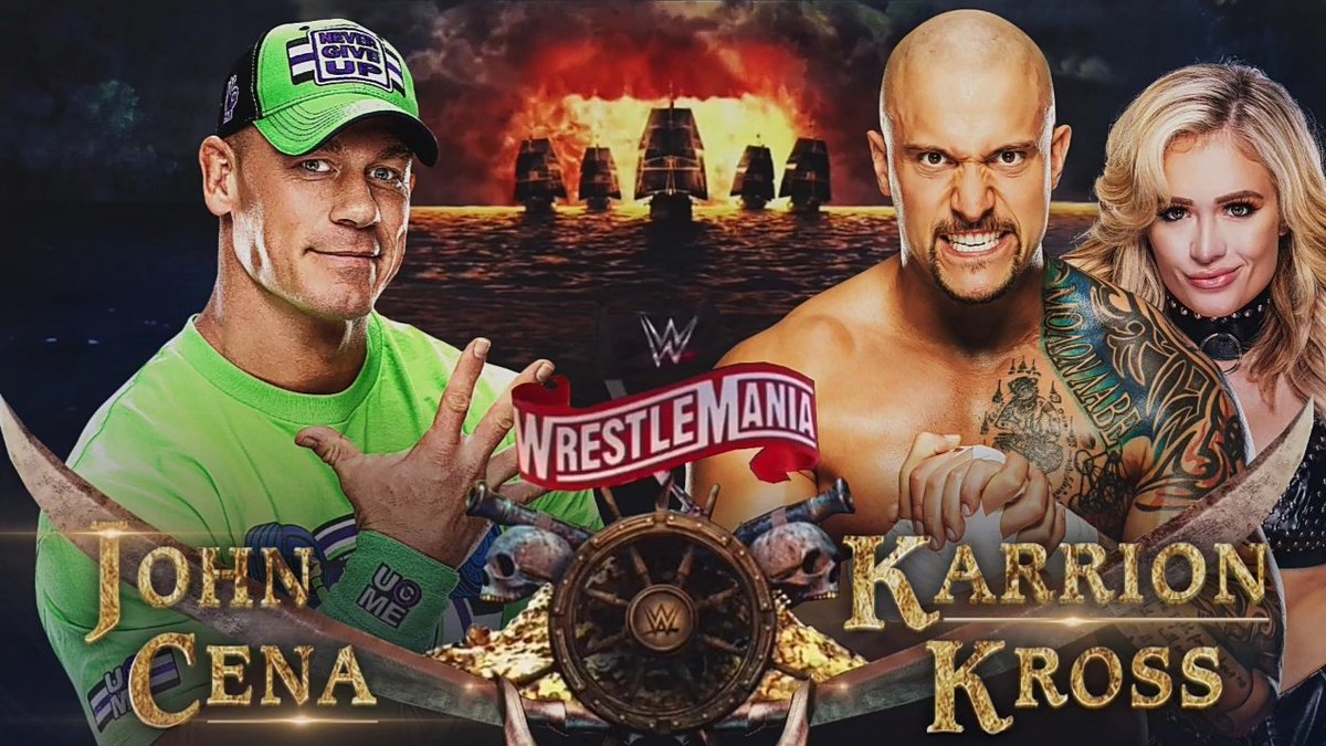 "🐍Edwin (Legit Boss)🦋 on Twitter: ""Hope to see @WWEKarrionKross vs John  Cena one day🔥 #KrossCult⏳❌ #TickTock… """