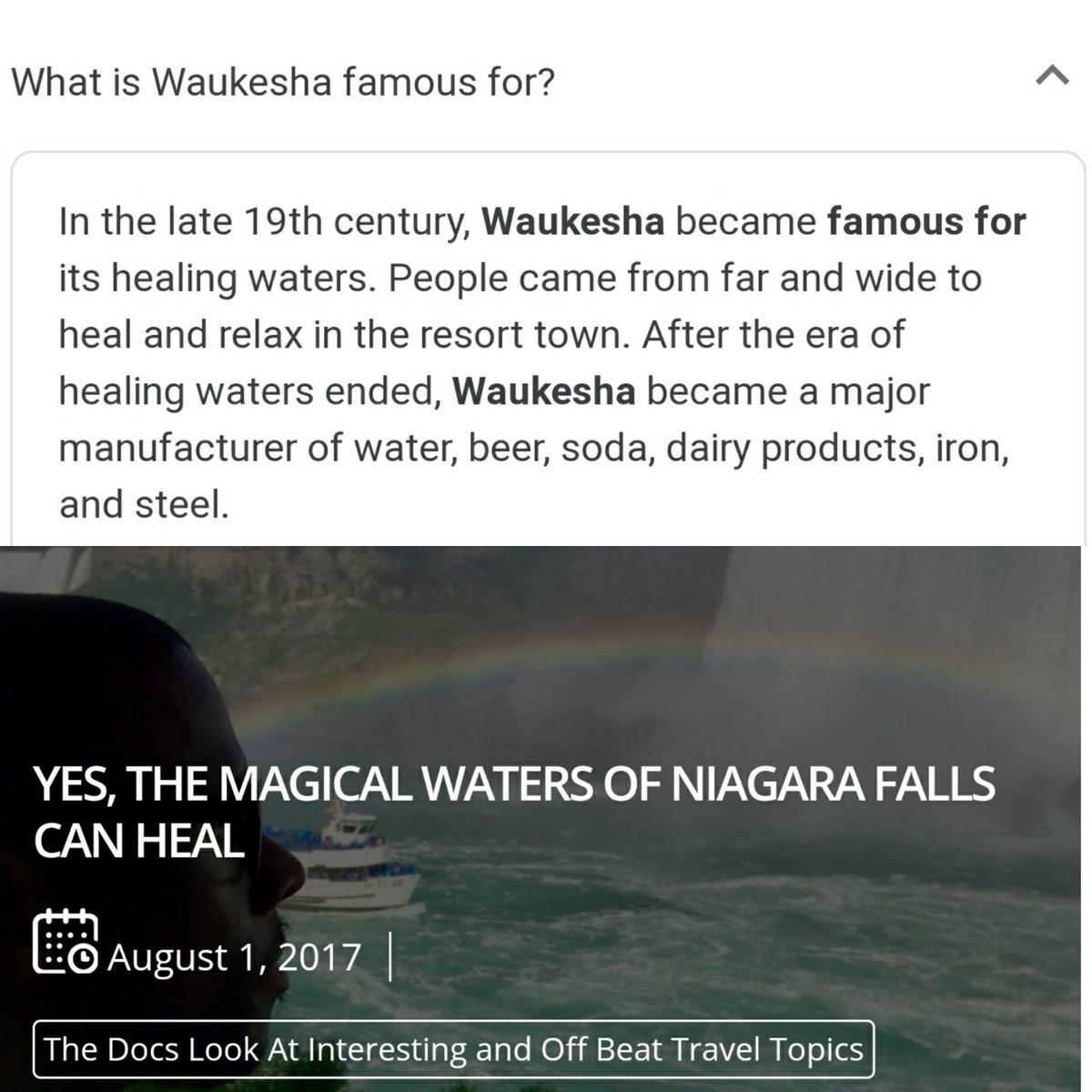 Okay #BillsMafia. Y'all ain't ready for this Watt Watch logic. JJ Watt was born in Waukesha, WI. Niagara Falls is in the backyard of Buffalo. Look at what they both have in common. Yes, I'm in the rabbit hole now. @JJWatt #billsbyabillion