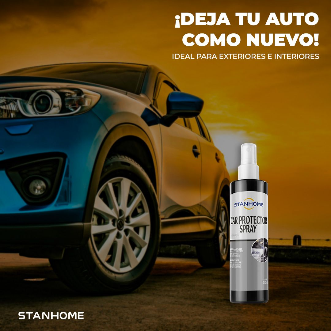 ¡Fiu! ¡Fiu! 😍 Con Car Protector Spray tu auto va a parar el tráfico 😲🚙✨  Úsalo en interiores y exteriores, y dale protección y brillo al instante ✅  #StanhomeMexico #MerecesLoMejor #HomeCare #Materiales https://t.co/TBBGrO2DTl