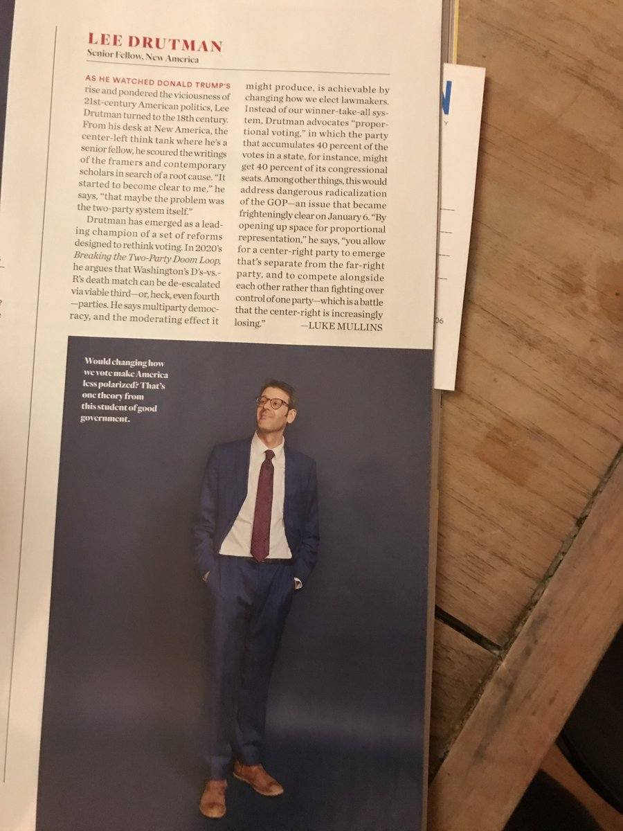 So, this is from the new issue of Washingtonian Magazine, Top Washington Influencers special. They decided to add some think tankers to feature this year. Guess the pickings were slim. (I know, false modesty. Humble brag. But arent we all just acting a part here anyway?)