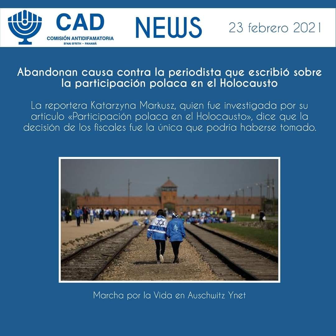 Fuente y noticia completa:    #CAD #CADPanamá #Holocausto