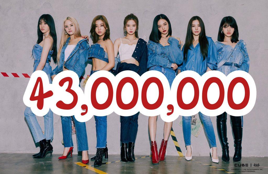 43,000,000 view   https://t.co/t5llkWeb9Z  #CLC #씨엘씨 #clc_ot7  #kpop #KpopTwitter  #seunghee #yujin #seungyeon #sorn #yeeun #elkie #eunbin  @CUBECLC @sssorn_clc https://t.co/aK6JzB7ZZb
