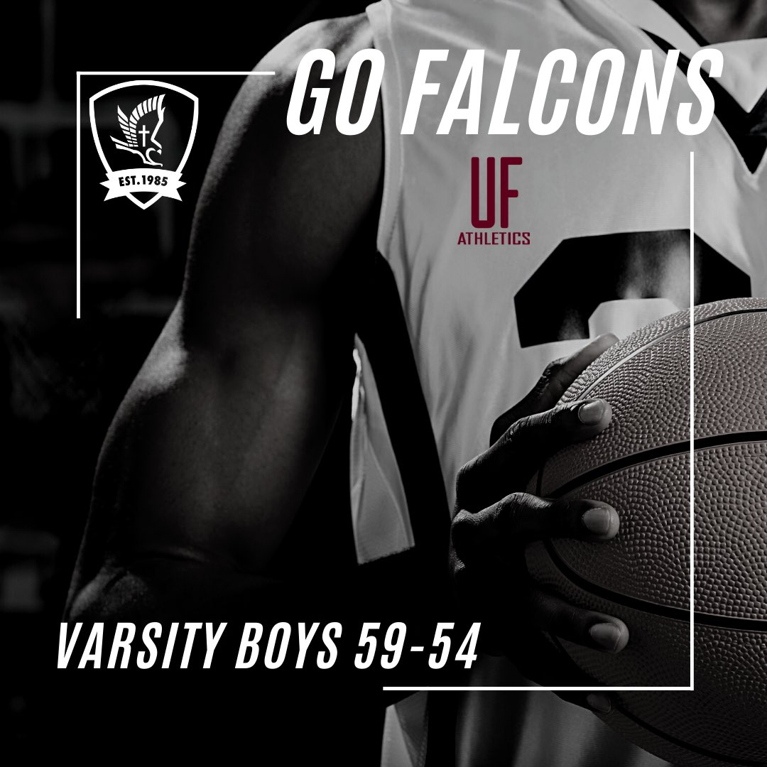 Way to go #faithboys!! State Championship this Saturday... #ufca #falconfamilies #ufbasketball https://t.co/jiWI5qgMzB