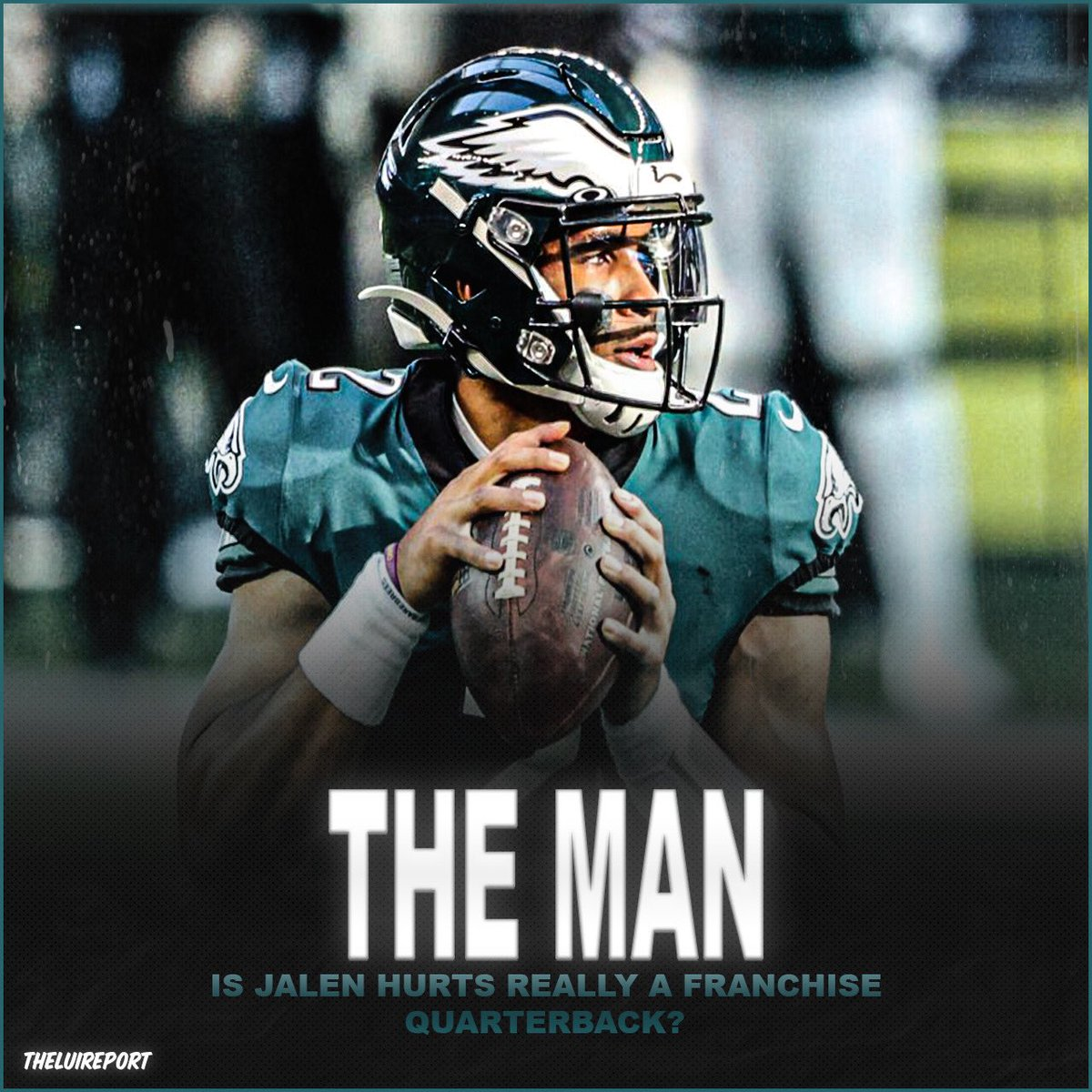 DAILYQ: I think he can turn into a franchise QB but he's gonna have to work really hard and fix his passing game. What do y'all think?   Let me know below! ⬇️  Follow @theluireport and don't forget to like, comment, and share!    #nfl #nflplayoffs #jalenhurts #philadelphiaeagles