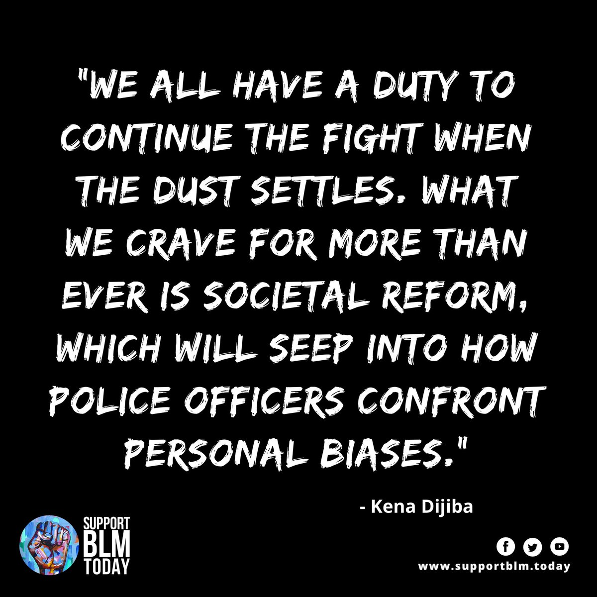When the dust settles, keep moving    #blacklivesmatter #blmquotes #blm #blm2021 #equality #racism #solidarity #blacklives #mlk #blmmovement #nojusticenopeace #blacklivesmatterplaza #blmprotest #blmfist