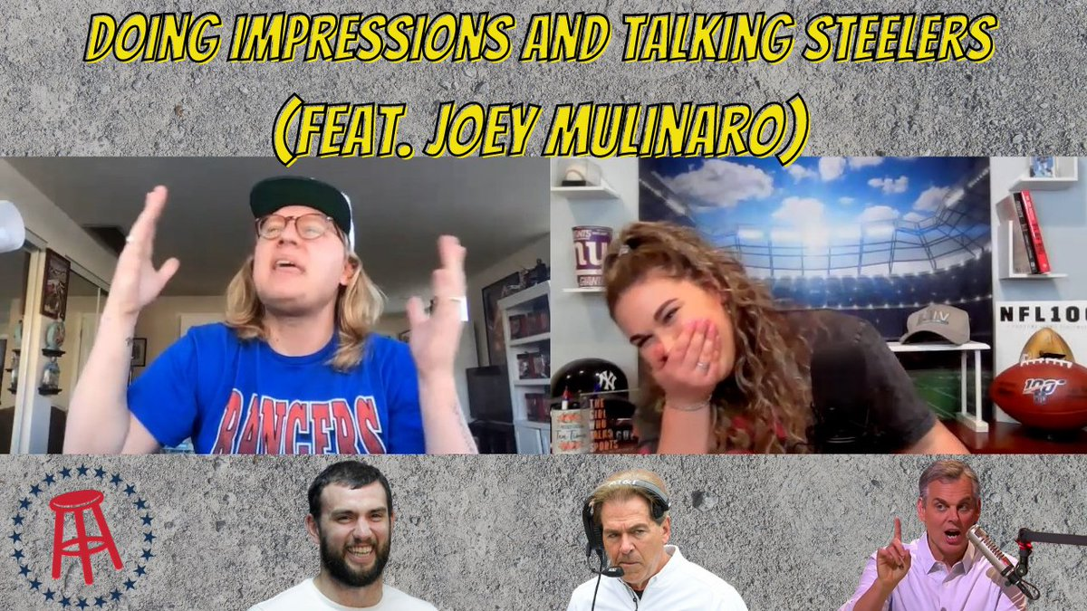 NEW EPI feat. @JoeyMulinaro of @barstoolsports   -Joey's start at #barstool -Being a #steelers fan in Indy -Impressions & so much more!  + #DomingoGerman drama, #JoeBuck drinks tequila in the booth & new #Mahomes baby!  on all podcast platforms & youtube!