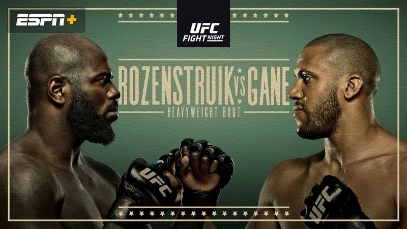 #UFCVegas20 #RozenstruikGane #ESPNPlus #UFCFightnight #UFC #MMA #allthebelts