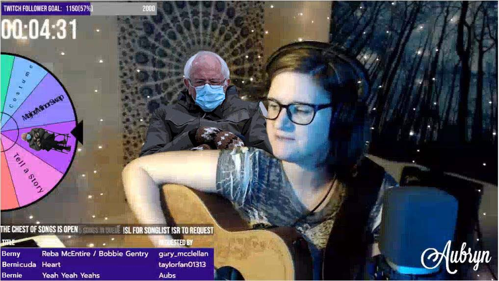 @AubrynMusic  you got Bernied! #bernied #Berniememes #twitchstreamer #twitch