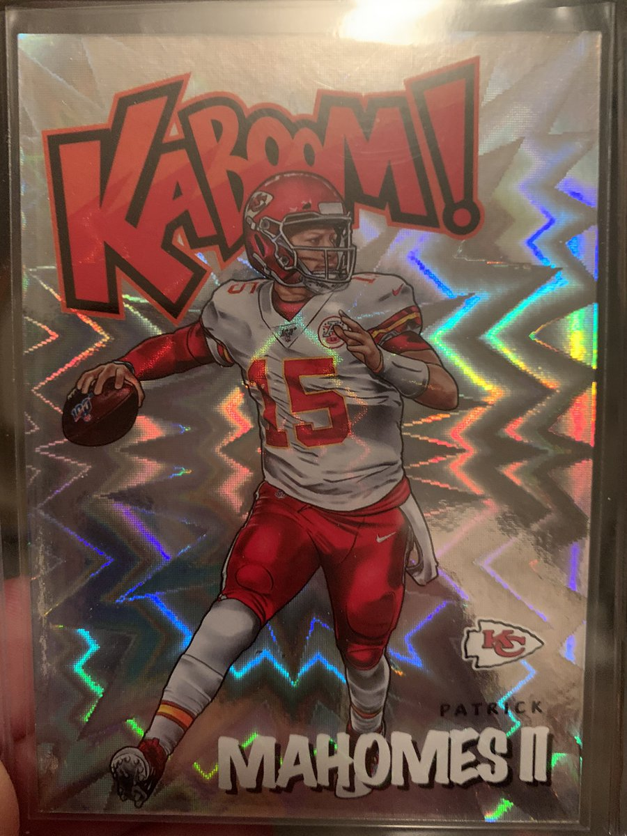 I dunno, I guess this was the big hit in tonight's rip 👀  #kaboom #mahomes #absolute #thehobby #whodoyoucollect #panini #fatpack #break #rip #RipFlair