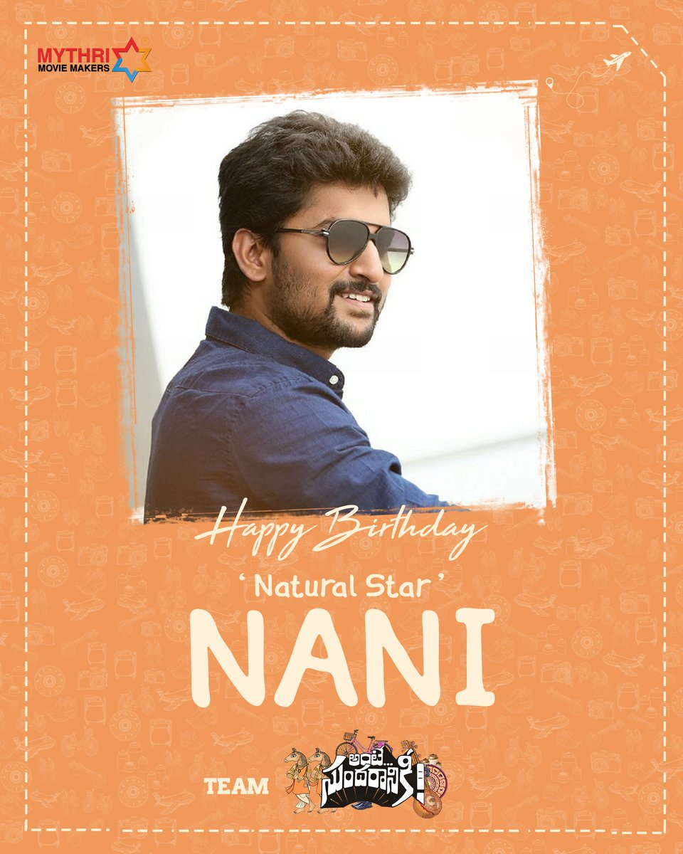Wishing Natural Star @NameisNani garu a fantabulous year ahead ❤️ #HappyBirthdayNani 😍