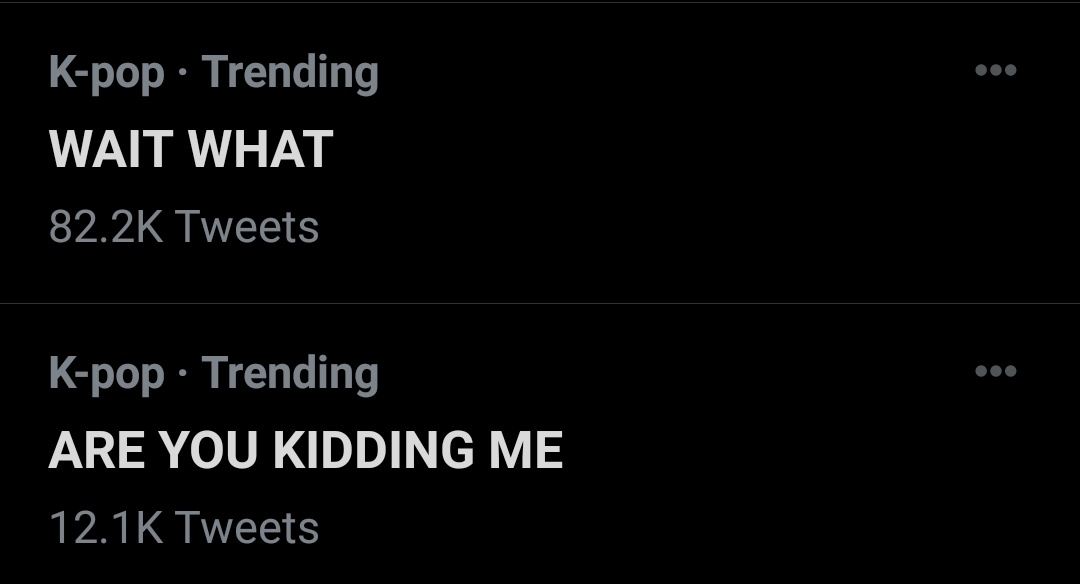 """WAIT WHAT"" ""ARE YOU KIDDING ME"" ""JUNGKOOK SELCA"" ""IM NOT OKAY"" ""WHATTTTT"" ""it looks so good"" ""OMG JK"" Lol,Are we really trending these??  The power Jungkook holds>>>"