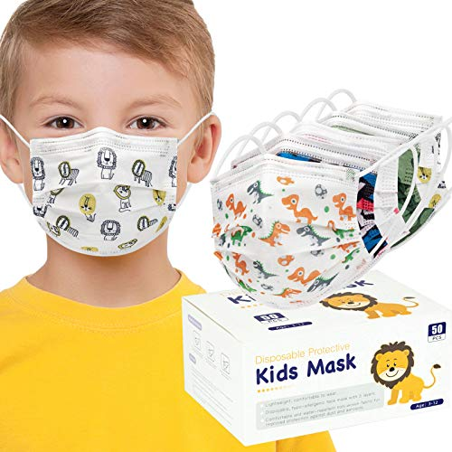 4 Child Face Masks 3 Layers (Pack of 50 PCS)