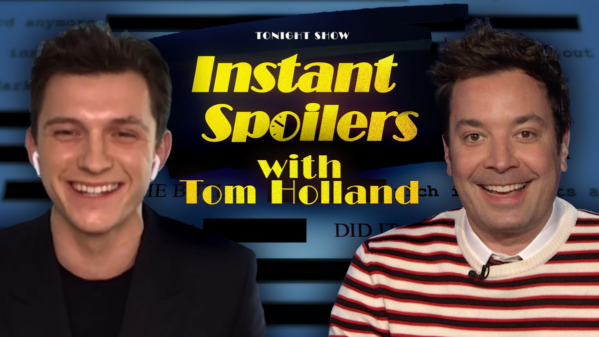 Instant spoilers tonight with @TomHolland1996 🤫