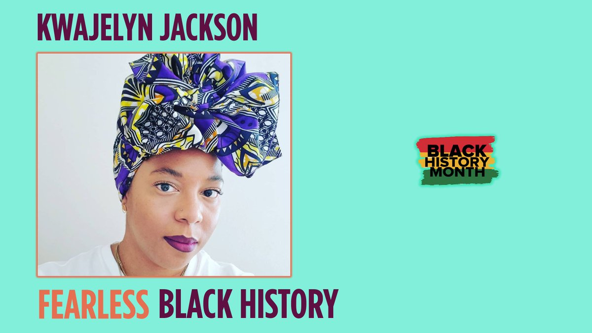 .@superkwa is the Exec Director at @FWHC in Atlanta! Under her leadership, community education and outreach work has made a significant impact. The third generation graduate of @SpelmanCollege continues a family legacy of anti-oppression and #reproductivejustice activism! #BHM