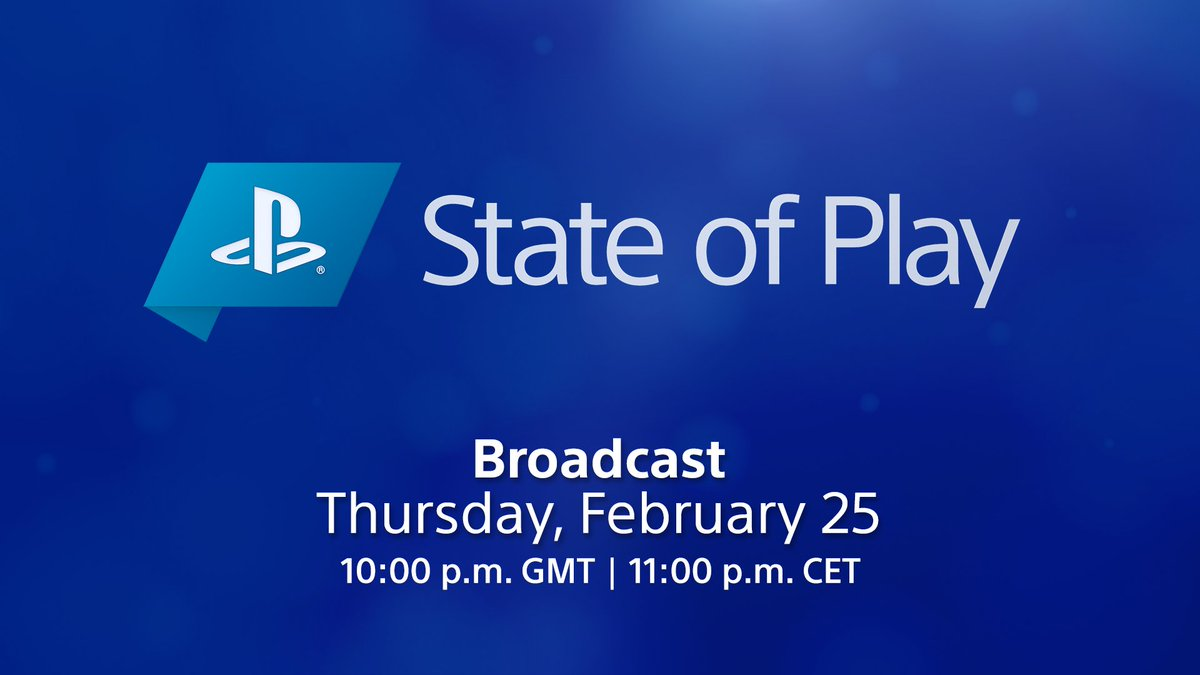 State of Play returns this Thursday! Tune in live at 3:30 AM (Friday) IST/10 PM GMT/11 PM CET to see updates and deep dives for games coming to PS4 and PS5.   Full details: https://t.co/qFC4Jfslyg https://t.co/v3pQNg2oBV