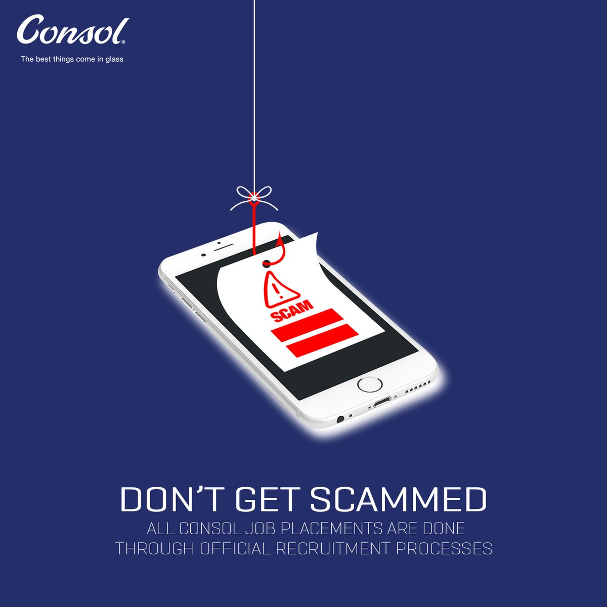 If you're interested in a career at Consol, please visit us online. Available vacancies can be found on the Careers page, on our website: https://t.co/vGijt4v0LQ  We follow strict recruitment processes so please do not fall victim to scams. #ConsolGlass https://t.co/ZUJIl9HWdD