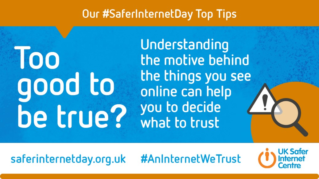 All week we have been giving you tips on staying safe online and how to have family conversations about Internet safety.   Why not test your knowledge with the #SaferInternetDay quiz!       #AnInternetWeTrust