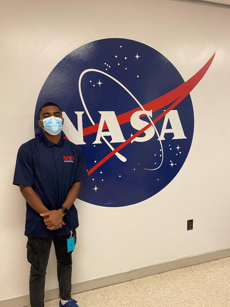 """""""I am proud to be a NASA Intern. There is an opportunity for everyone to find their fit and figure how they can add value to the mission of exploration and innovation."""" -Dylan Gladley, @NASAKennedy intern & @UCF MBA student, helping with the Deep Space Gateway Logistics project."""