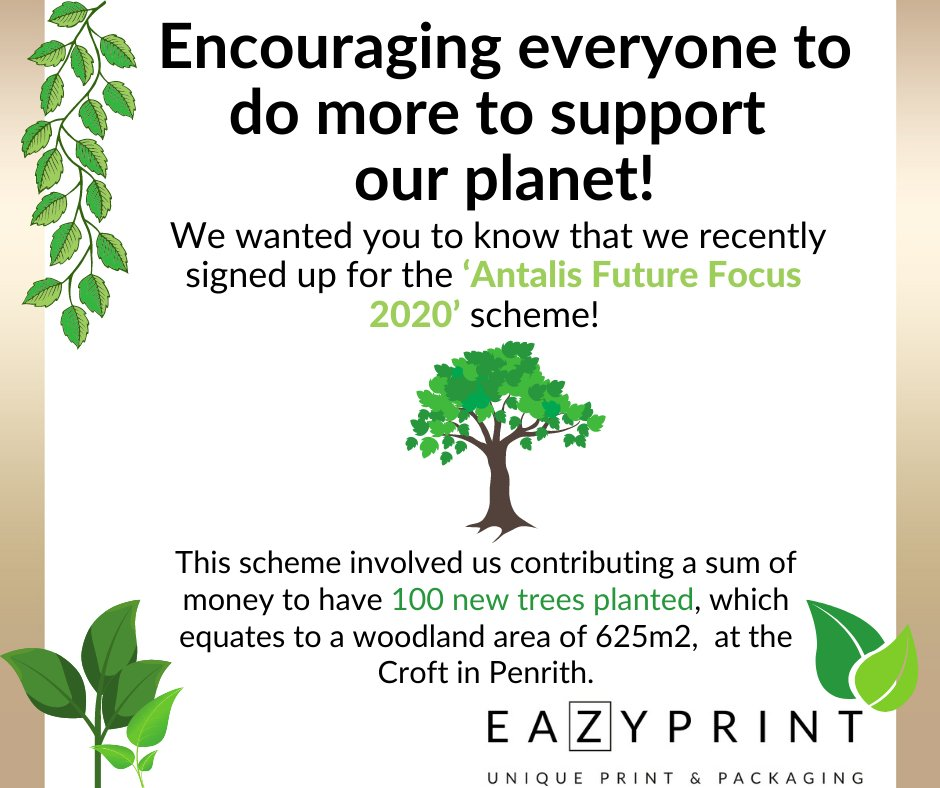 Great news @eazyprint 🙌 We've loved working with brilliant businesses to help make the world greener with our recent #futurefocus campaign. #savetheplanet #environment #TogetherWeCan