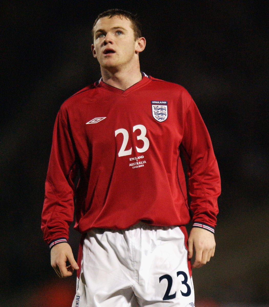 The start of a very special #ThreeLions career 🌟  #OnThisDay in 2003, @WayneRooney became our youngest-ever player as he won the first of his 120 caps!