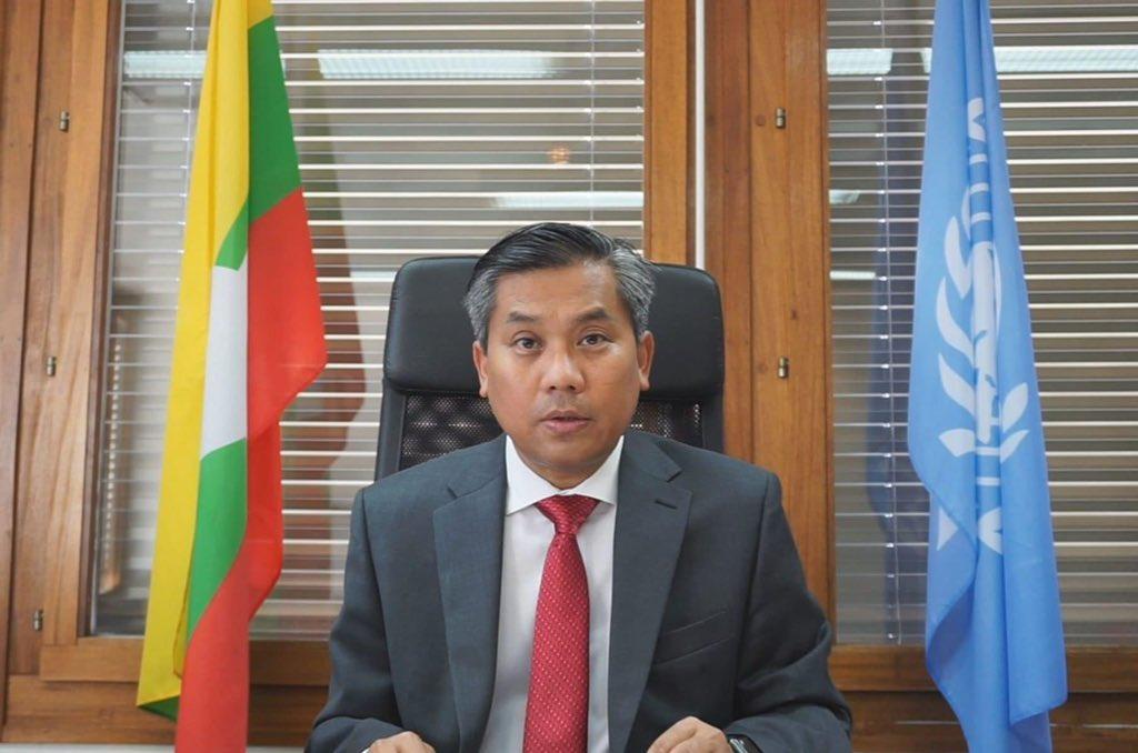 "Thu Wai on Twitter: ""Myanmar UN Representative Kyaw Moe Tun DOES NOT  represent Myanmar people and our voice. Shameless! #WhatsHappeningInMyanmar  #Feb12Coup https://t.co/Zgy8oEjdW8… https://t.co/x3eytdBeY9"""