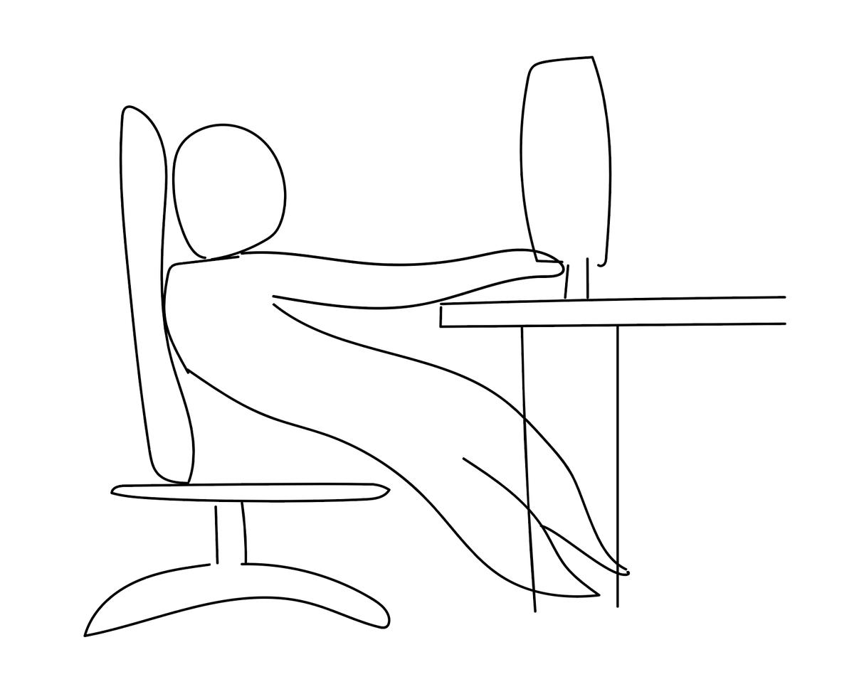 パソコン作業中こんな風に座っていませんか?歩けなくなりますよ!