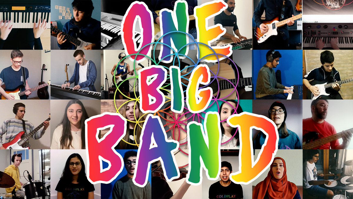 We are excited to finally announce the official release of One Big Band - the Coldplay Megamix Fan Cover! Coming February 22, the anniversary of the band's first show as 'Coldplay' (although technically 'The Coldplay'). Can't wait to share it with everyone!