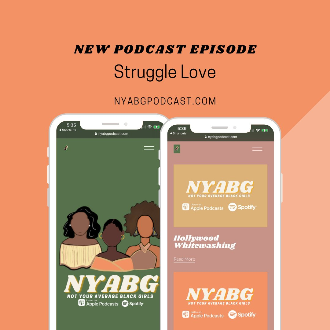 """💛❤️🧡 Struggle  Are you ready for the next episode? Catch the latest release this Sunday as the NYABG's discuss the millennial and gen Z concept of """"love"""".   You won't want to miss this! Available on Apple Podcasts, Spotify and   #LinkInBio"""