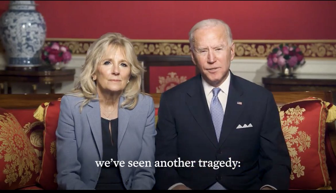 In a lunar new year video, the Bidens address reports of a recent surge in attacks on Asian Americans