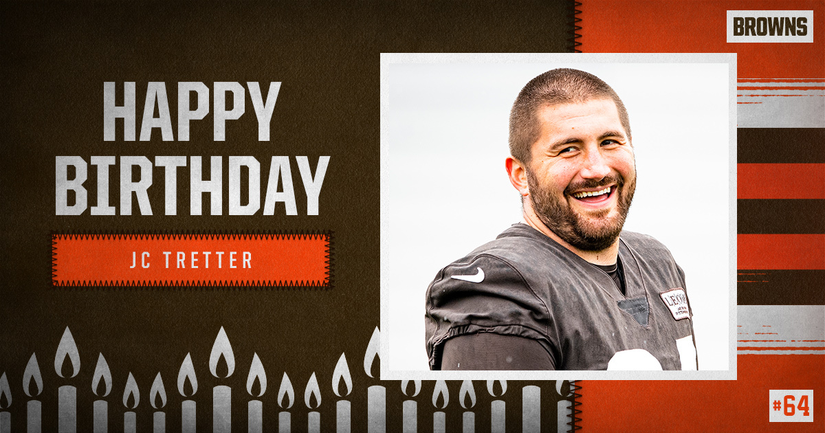 Replying to @Browns: RT to wish @JCTretter a Happy Birthday! 🥳