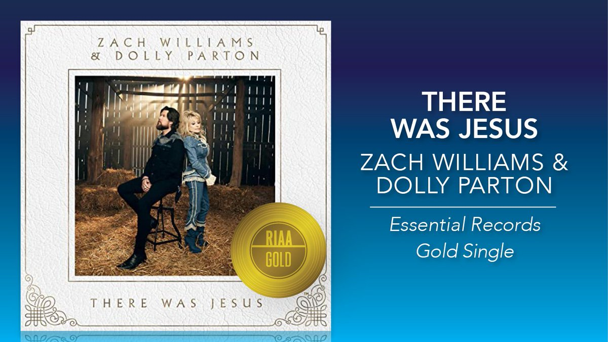 🙏 📿  #ThereWasJesus is #RIAAGold 📀! Congratulations to @zachwilliams and @dollyparton! #EssentialRecords