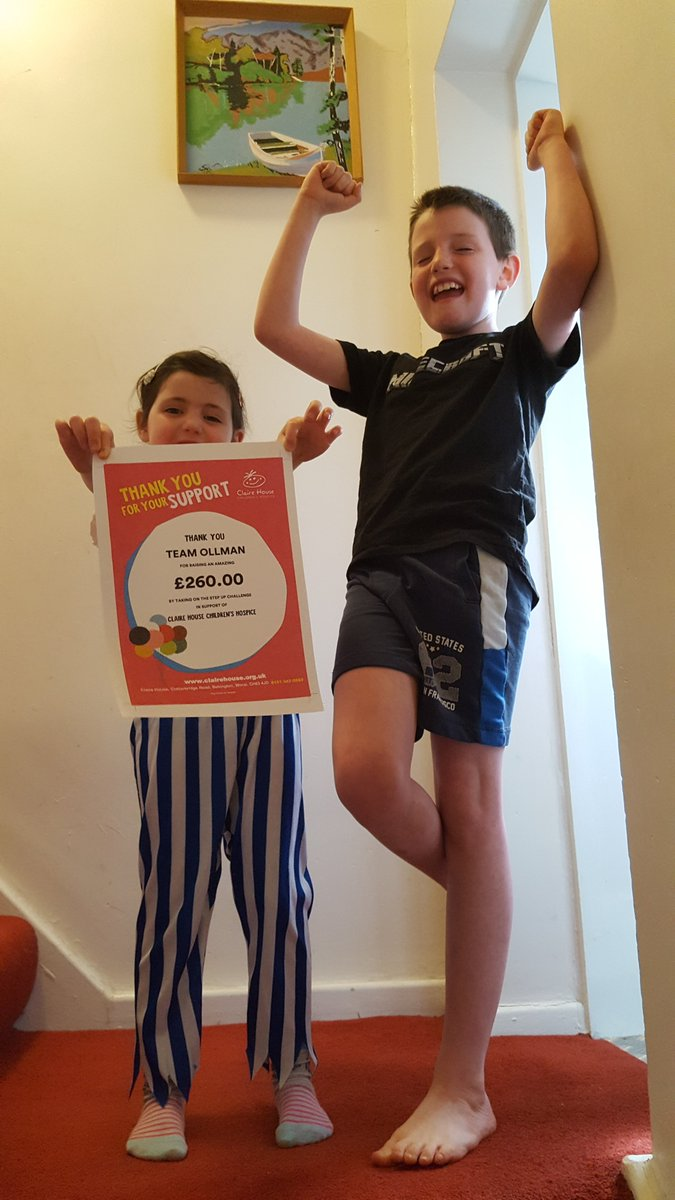 If you're looking to keep the kids active this half term, why not join our Step Up challenge?   You can take on famous landmarks by climbing your stairs at home.   Micah & Phoebe took part last year and raised a incredible £260.👏🦸👏  Sign up here 👉