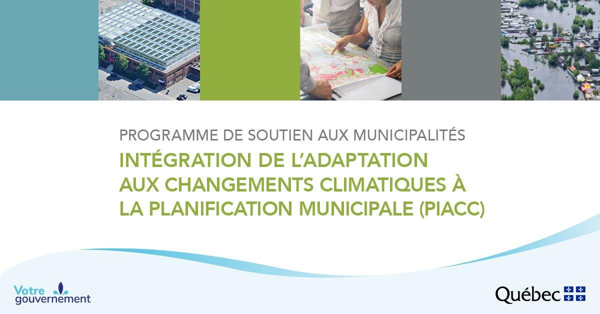 Programme de soutien aux municipalités Intégration de l'adaptation aux changements climatiques à la planification municipale (PIACC)