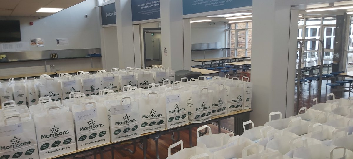 Over 100 free breakfast parcels packed up and ready to be given to our students for half term!