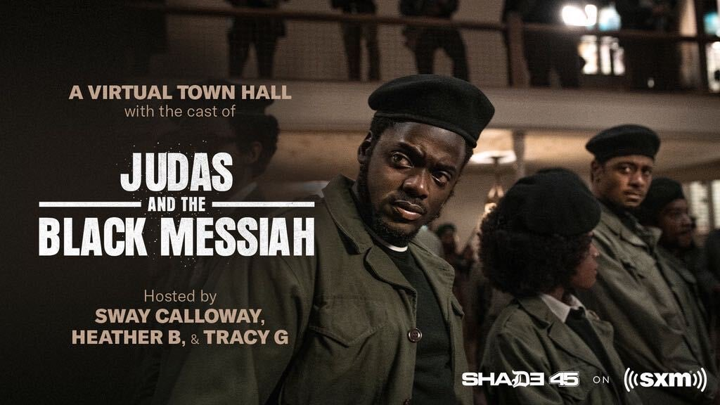 Tune in to @Shade45 now for a special Town Hall discussion with @RealSway and the cast of JUDAS AND THE BLACK MESSIAH!  @SIRIUSXM