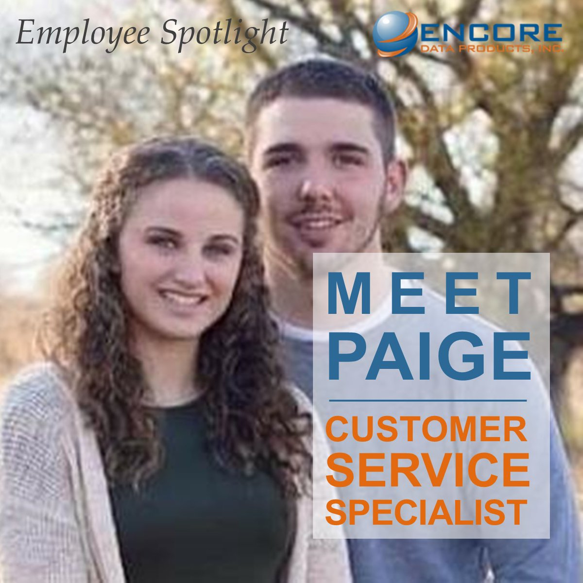 Meet Paige, Customer Service Specialist for Encore since 2020. She enjoys watching sports, spending time with her family and dog, and being outdoors. At Encore, Paige loves being around great people and working with friendly customers. We're so happy to have you on board, Paige! https://t.co/7PPTMh8Gdl