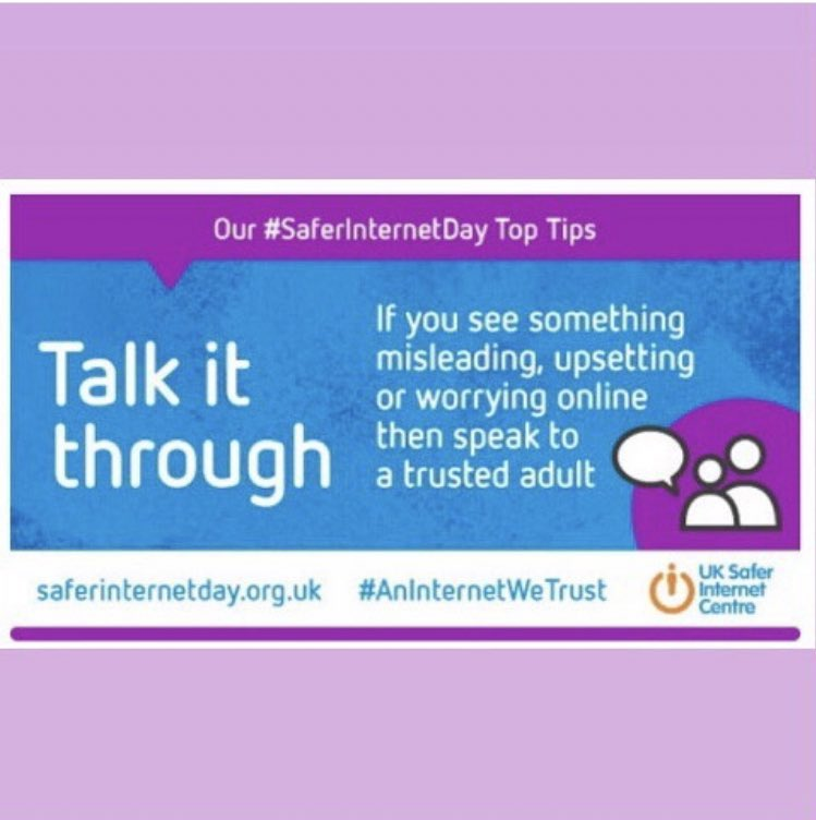 We end with two more tips today to support #SaferInternetDay2021  Let's all work together to create #AnInternetWeTrust 👨🏻‍💻@UK_SIC