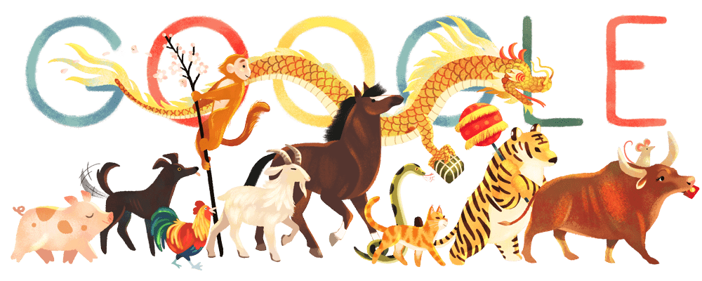In Vietnam, Lunar New Year is known as Tết 🌕 🇻🇳  What better way to welcome the new year than with bánh tét'—a rice cake stuffed with mung beans & pork rolled in banana leaves🍌🥬  What's your favorite way to celebrate Tết? Comment ⬇  #GoogleDoodle →