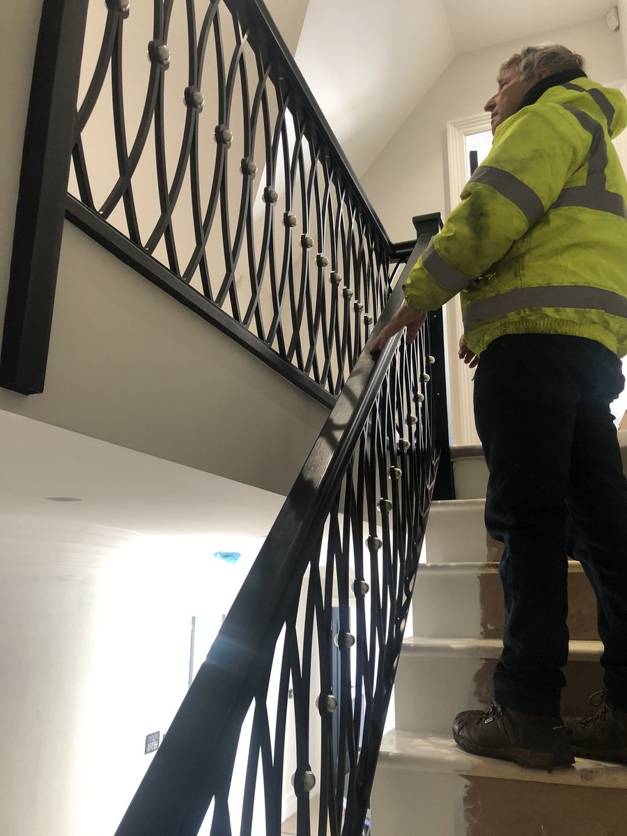 test Twitter Media - Fitting the metal balustrade on to the timber staircase - Presenting the hall staircase and landing beautifully!  Well done team! @fmbuilders #southport #builders #paulennis https://t.co/mOTXyfaw0b