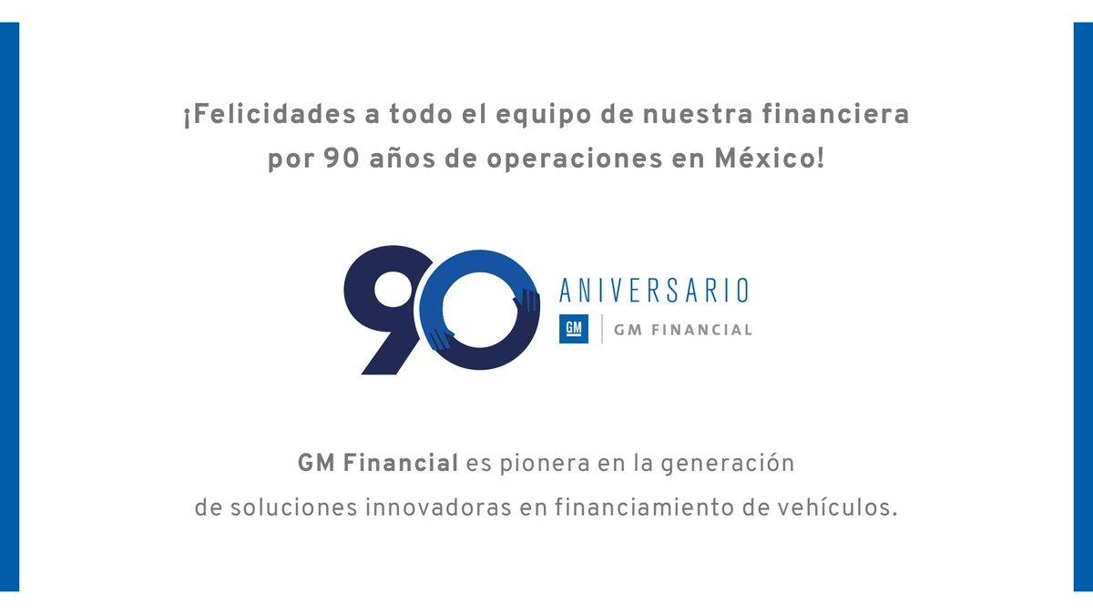 General Motors envía una gran felicitación a GM Financial, por sus 90 años operando en México, en los que se ha consolidado como la financiera automotriz líder del mercado. https://t.co/tCER6PKsBq