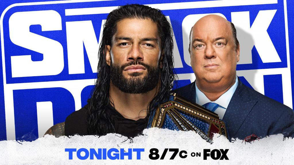 .@WWERomanReigns has a blockbuster announcement about the #UniversalTitle TONIGHT on #SmackDown. @HeymanHustle   👉