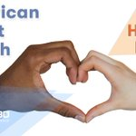 Image for the Tweet beginning: It's American #HeartMonth and #BlackHistoryMonth.
