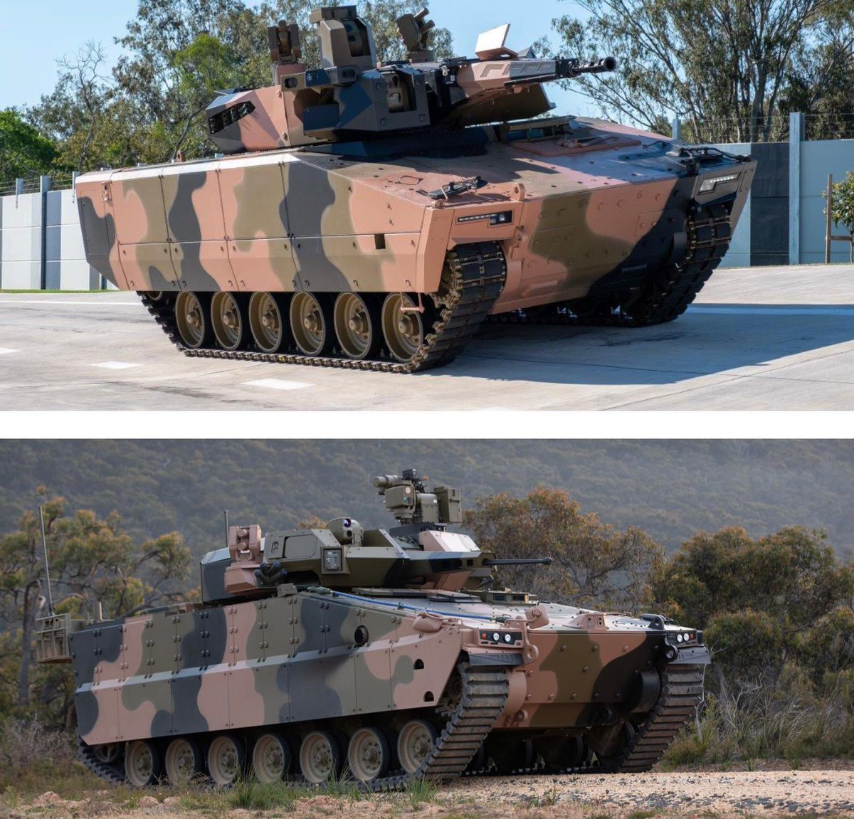 New milestone for the @ScottMorrisonMP Gov's multi-billion dollar Infantry Fighting Vehicles program ✅. 6 prototype test & evaluation vehicles have been delivered. The LAND 400 Phase 3 Program will equip #AusArmy with advanced, cutting-edge Infantry Fighting Vehicle capability.