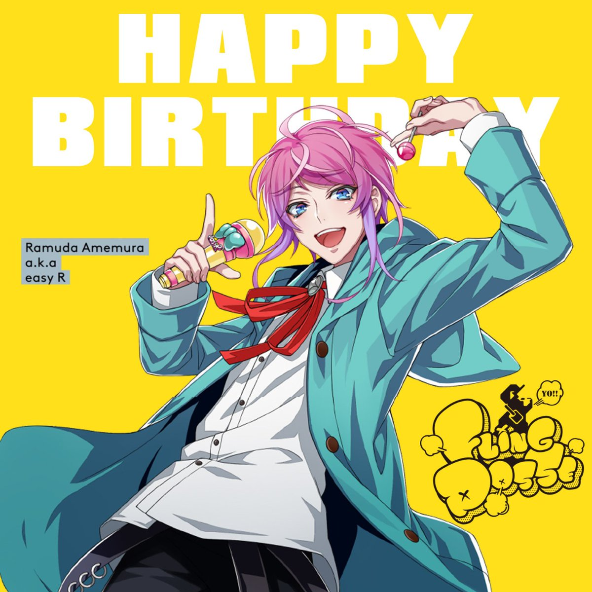 HAPPY BIRTHDAY  TO  RAMUDA!!!!!!   \ \ \ \②.⑭ / / / /   『R A M U D and A Who's that? 乱数 オネーさーん またゴハンいこー』 youtu.be/tLzcjkkdD-c