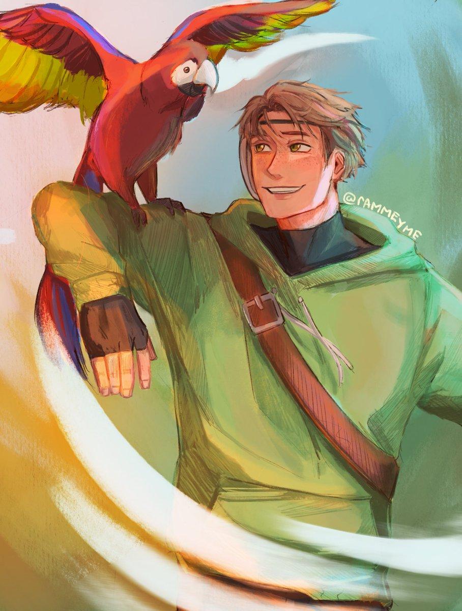 Replying to @rAMMEYME: dream and parrot rip parrot u will be missed <\3  #dreamfanart #mcytfanart #manhuntfanart