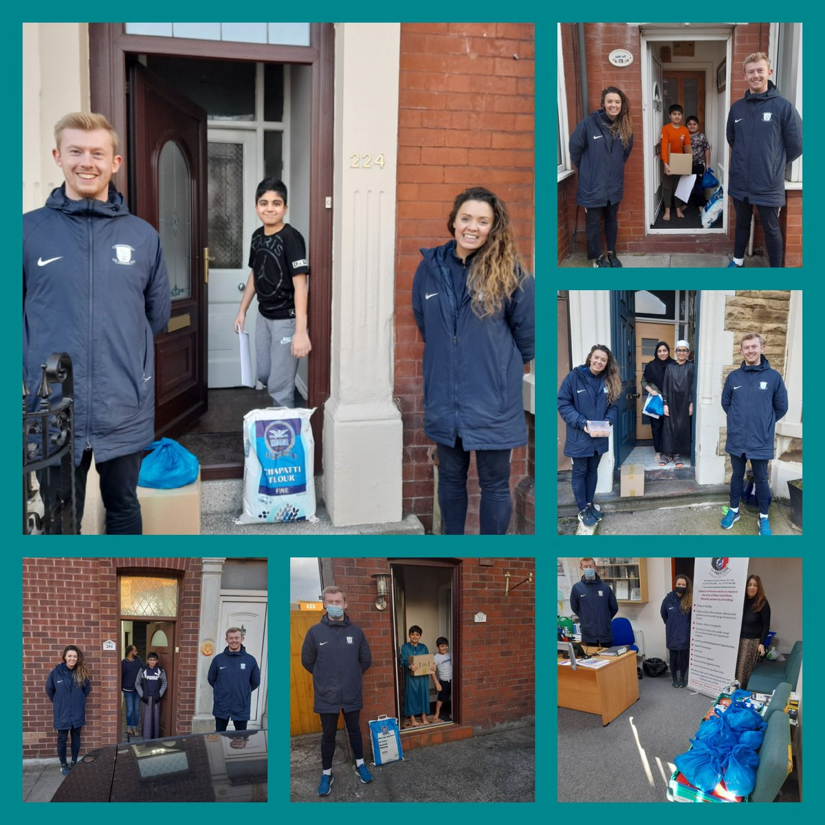 @pnecommunity @ZafarC @MatthewBrownLab @estellew @quwwatulislam @CicOwned @DeepdaleCA @RMActiveLancs @CgaSian working with PNE Trust yesterday delivering locally sourced dietary sensitive food in Deepdale thank you Rebecca and Alistair whose a famous footballer apparently 🤣