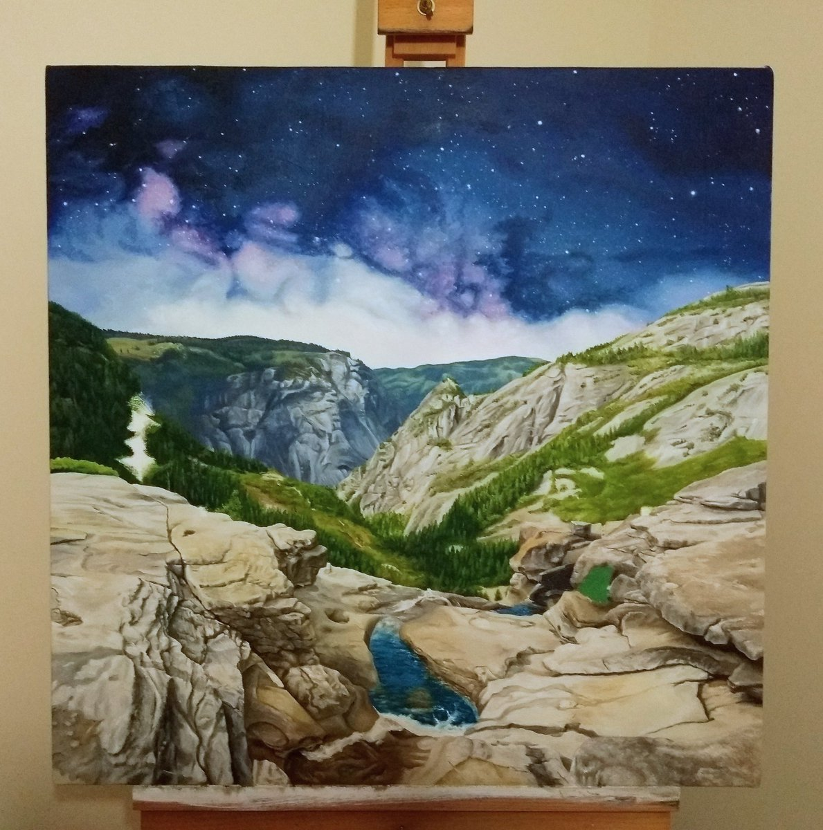 test Twitter Media - Nevada Falls, Yosemite. Work in progress but getting close now. #oilpainting https://t.co/GLtUbQ9pEx